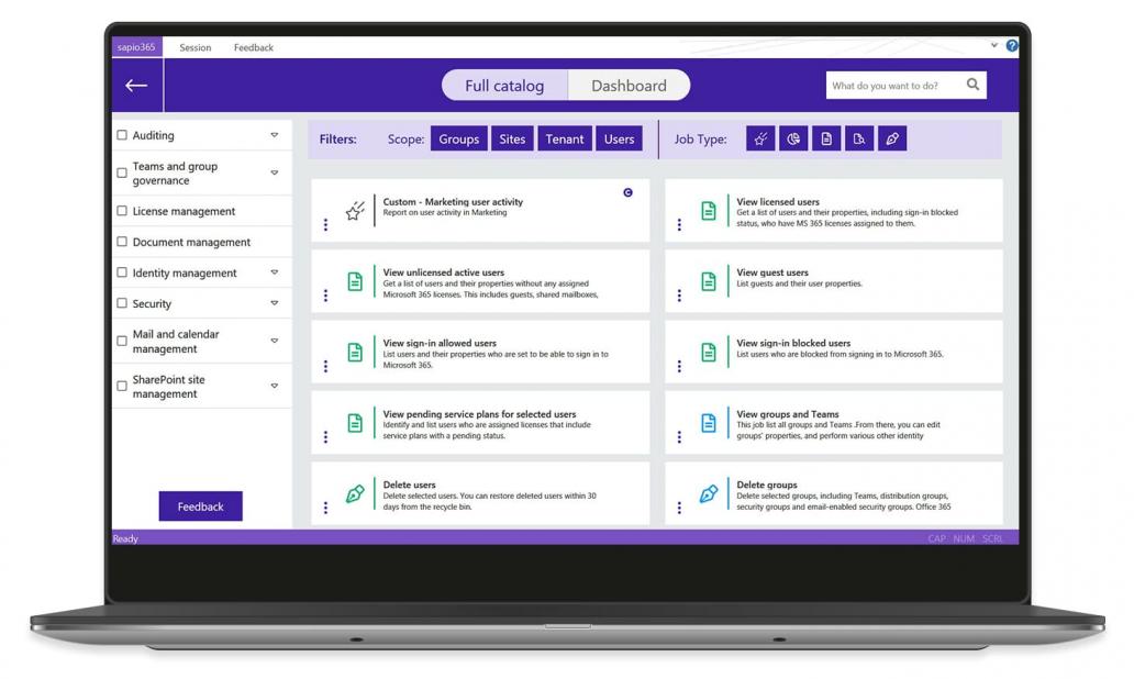 Automation-sapio365-screenview