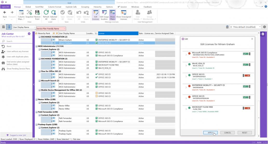 Microsoft 365 license management